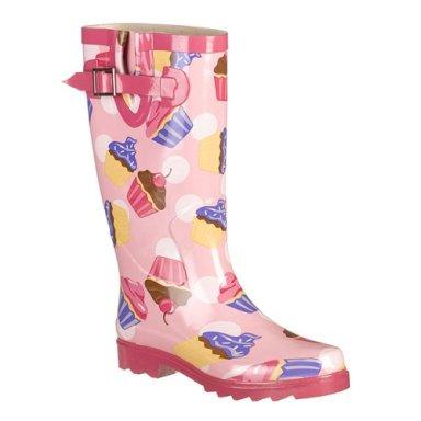pink cupcake rain boots